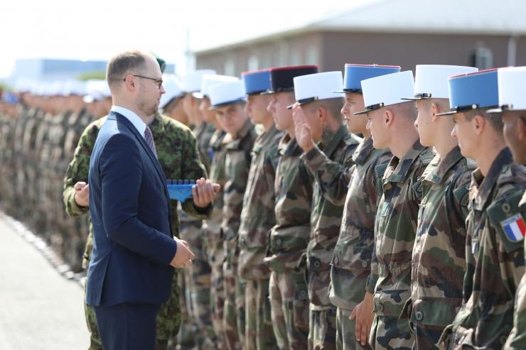 Tapal teenivatele Prantsuse sõduritele anti üle missioonimedalid