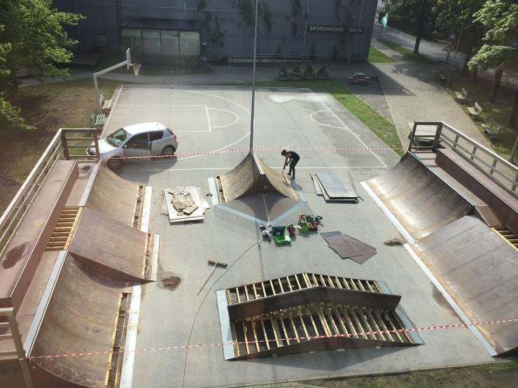 Valdeku ja Ilmarise tänava rulapargid läbivad uuenduskuuri