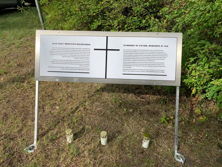 Pirital avati mälestustahvel NKVD poolt mõrvatute mälestuseks