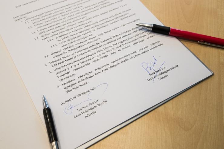 Ametiühingute Keskliidu volikogu ei kinnitanud alampalga kokkulepet