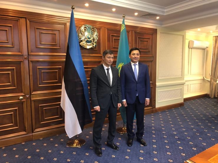 Linnapea Mihhail Kõlvart arutas Kasahstani pealinna meeriga koostööd