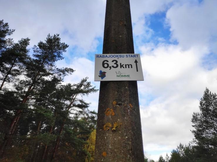 Rabajooksu distants Harku metsas tähistati alaliste viitadega