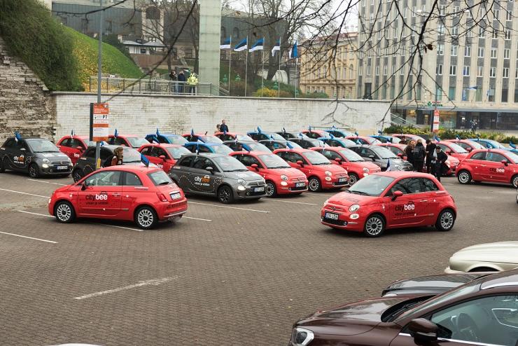 VIDEO ja FOTOD! Citybee alustas Tallinnas sõiduautode kiirrendiga