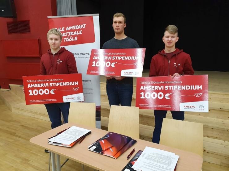 Amserv jagas toetusi Tallinna Tööstushariduskeskuse autoeriala õppuritele