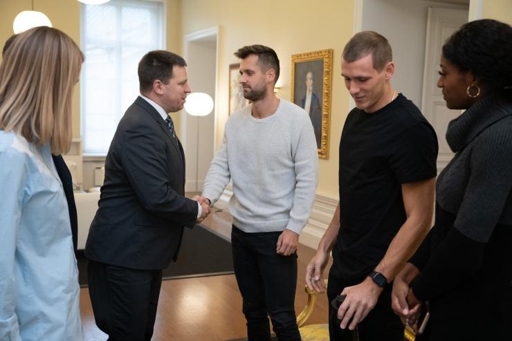 Peaminister võõrustas spordisangareid