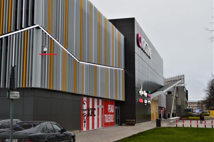Kristiine kaubanduskeskuse esine kaeti kolme uue ööpäevaringse valvekaameraga