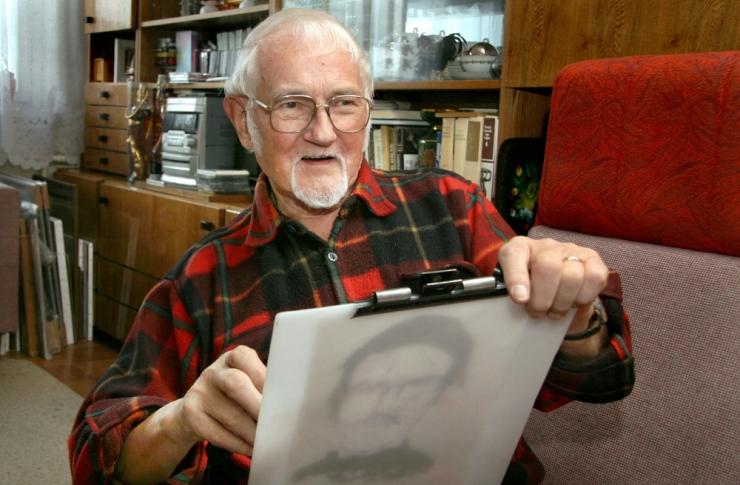 Suri karikaturist Hugo Hiibus