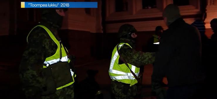 VIDEO! Toompeal toimub täna õhtul PPA ja Kaitseliidu õppus