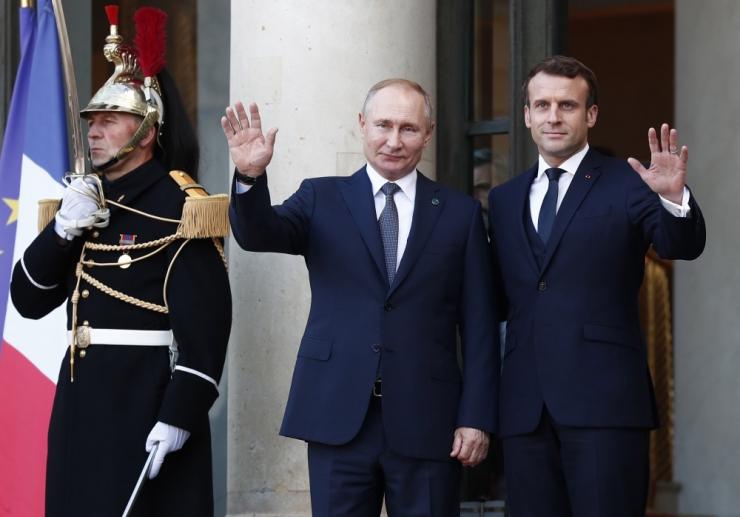 Putin saabus Pariisi Normandia tippkohtumisele