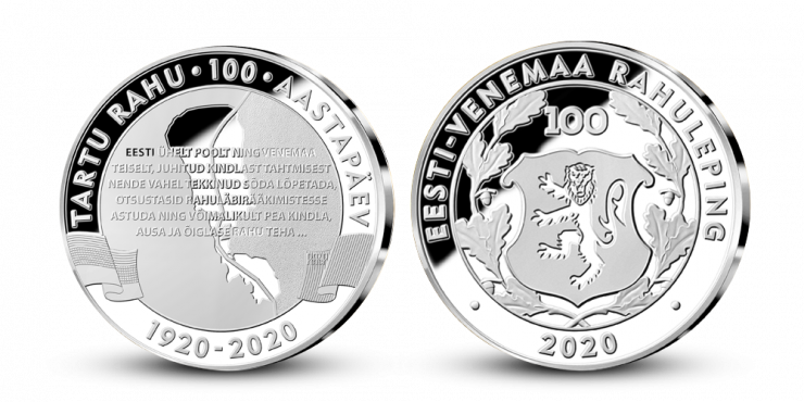 Tartu rahulepingu 100. aastapäevaks vermiti meenemedal
