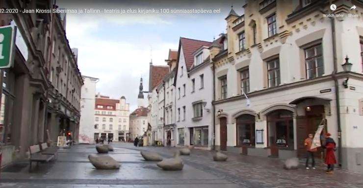 VIDEO! Jaan Krossi mälestuseks kerkib Harju tänavale ausammas