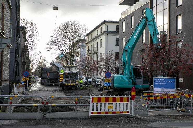 Koidu tänava remont Tallinnas jõuab uude etappi