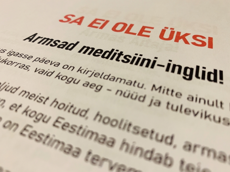 Heade uudiste portaali üleskutse: ütle meditsiinitöötajale – Sa ei ole üksi!