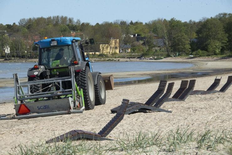 VIDEO JA FOTOD! Kakumäe rannas alustati liiva sõelumist