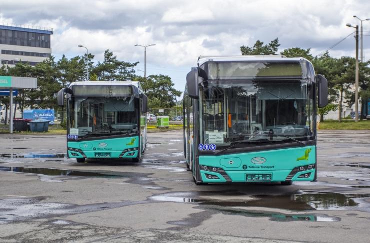 VAATA PILTE JA VIDEOT! Esimesed biogaasibussid teevad Tallinnas testsõite