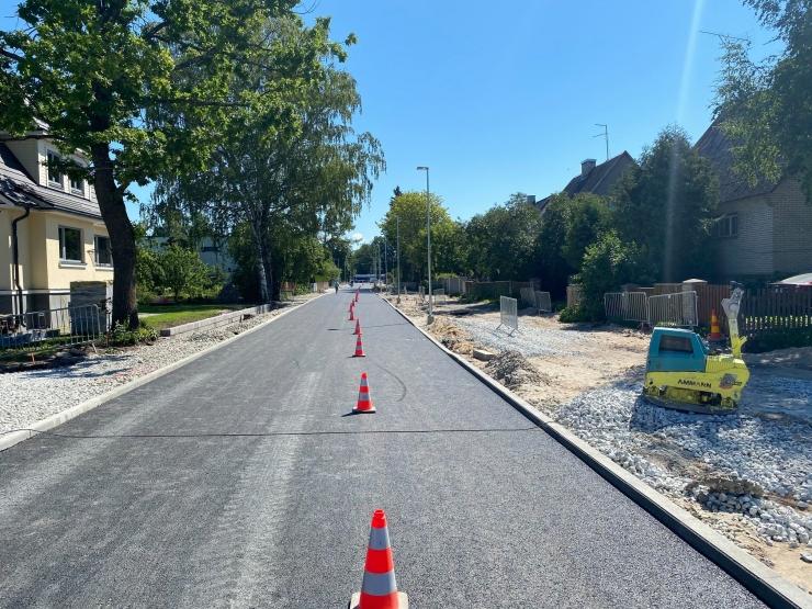 Tedre tänava lõigul Sõpruse puiestee kuni Mooni tänav toimub asfalteerimine