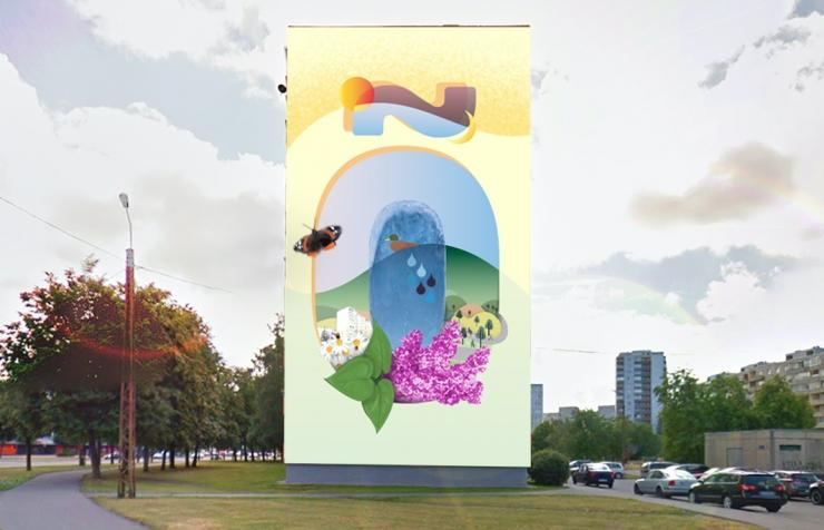 Väike-Õismäe majale maalitakse veel üks Õ-tähega seinapilt