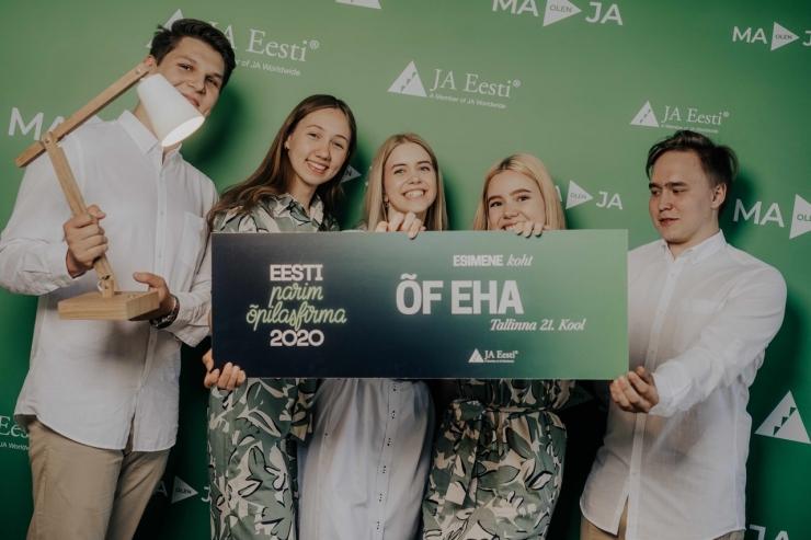 Eesti õpilasfirma sai Euroopa võistlusel kõrge tunnustuse