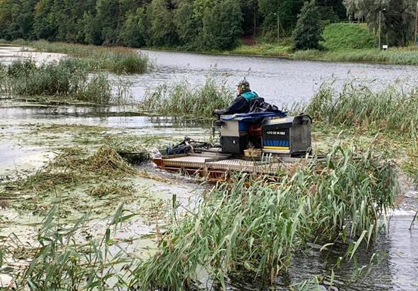 Pirita jõel alustas sügisese pilliroolõikusega hõljukniiduk