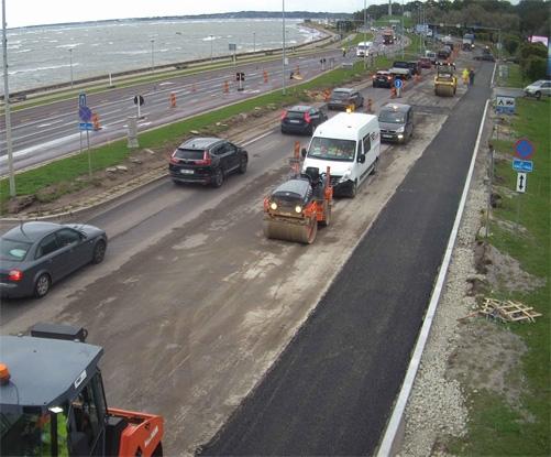 Pirita teel algasid asfalteerimistööd