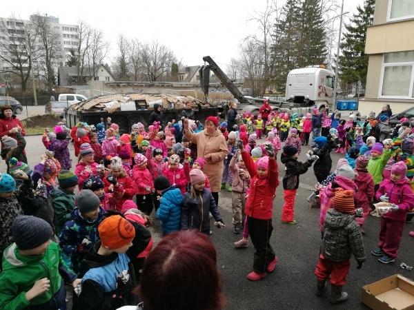 Kristiine Lepatriinu Lasteaed on kogunud viie aasta jooksul üle 16 tonni vanapaberit