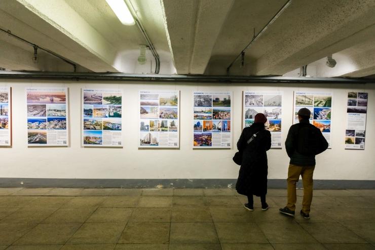 Vabaduse väljaku tunnelis on avatud fotonäitus Tallinna ajaloolistest piirkondadest